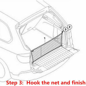 Auto Accessories Car Rear Trunk Boot Organizer Pocket Cargo Net Mesh Storage Bag