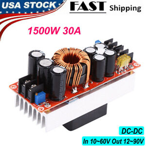 1500w 30a Dc dc Boost Converter Step up Power Supply Module Out 12 90v In 10 60v