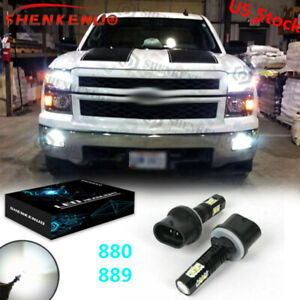 880 889 Led Fog Light Bulbs For Chevrolet Silverado 1500 2500 Hd 3500 2001 2002