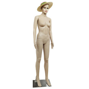 Female Mannequin Full Body Pp Realistic Display Head Turns Dress Form Body Model