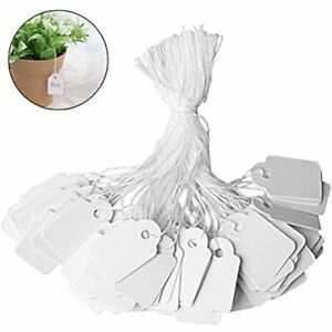 500 Pieces Jewelry Price Tags Marking Clothing Display Paper Labels With White