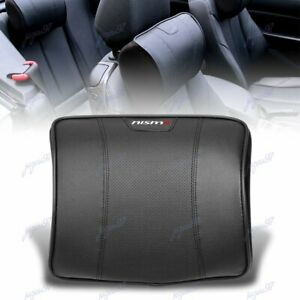 For Nissan Nismo Black Leather Car Seat Memory Foam Neck Rest Cushion Pillow X1
