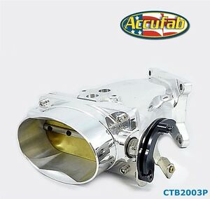 03 04 Mustang Cobra Accufab Sbtb Single Blade Throttle Body And Polished Plenum