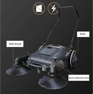 Portable Durable 1 Pc 41 33 Width Triple Brush Push Power Sweeper Pavement New