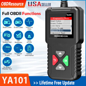 Ya101 Obdii Code Reader Auto Obd2 Scanner Check Engine Fault Diagnostic Tools Us