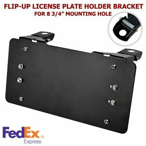 Winch Flip up License Plate Bracket Holder For With Roller Fairlead Vehicles Us