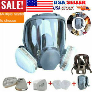 Us Full Face Gas Mask Painting Spraying Respirator W Filters For 6800 Facepiece