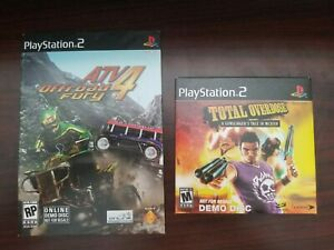 PS2 Playstation 2 Demo Disc Lot - Total Overdose & ATV Offroad Fury 4