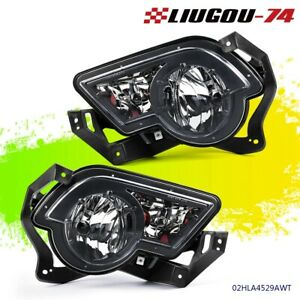 Left Right Clear Fog Lights Lamps W Cladding For 02 06 Avalanche 1500 2500 Us