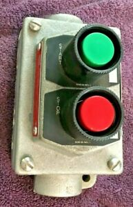 Cooper Crouse Hinds Efsc315 Explosion Proof 2 Push Button Start Stop Switch