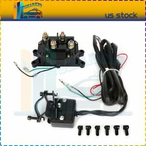 Atv Utv Contactor Winch Rocker Combo Solenoid Relay Thumb Switch