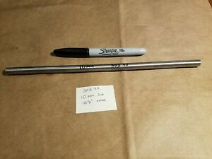 303 Stainless Steel Round Bar Rod 10 Mm Dia X 10 1 2 Long Lathe Stock