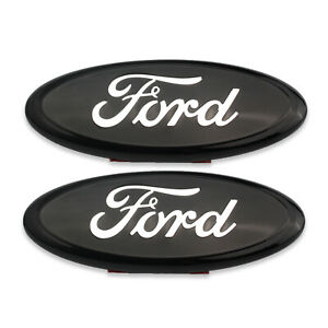 2 Pcs 9 Inch Oval Emblem Black Chrome 2005 14 Ford F150 Front Grille Tailgate