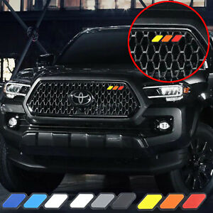 New For Toyota Tacoma 4runner Tundra Tri Color 3 Grille Badge Emblem Us