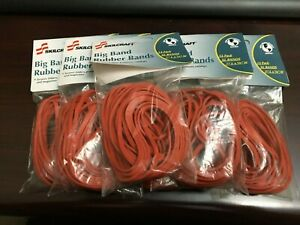 6 Packs Big Band Rubber Bands Size 117b Red 12 pack