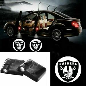 2x Oakland Raiders Logo Car Door Wireless Led Ghost Laser Projector Shadow Light