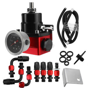 Universal Adjustable Fuel Pressure Regulator Kit W 0 100psi Gauge An6