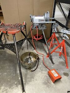 Ridgid 300 T2 Power Drive Pipe Threader 460tri Stand Rj 99 Stands Oiler