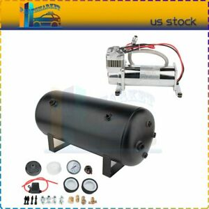 200 Psi Air Compressor Onboard System Kit With 5 Gal Air Tank For Train Horn