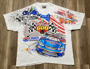 Vintage 02 Charlotte Motor Speedway Coca Cola 600 All Over Print Chase T Shirt L