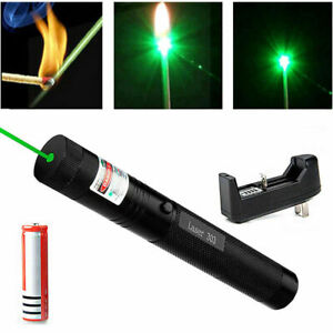 500mile 532nm 303 Green Laser Pointer Visible Beam Light Lazer Pen 18650 charger