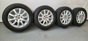 2013 Porsche Cayenne Set Of Four 18 Inch Oem Wheels With Michelin Tires