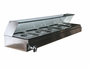 Us Stock 5 Pan Electric Bain Marie Countertop Food Warmer Steam Table 110v1500w