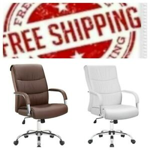 Furmax High Back Office Desk Chair Conference Leather Executive With Padded