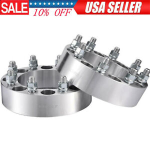 2pcs 8x6 5 To 8x6 5 Wheel Spacers Adapters For Chevy 2500 3500 Gmc Sierra 2 Inch