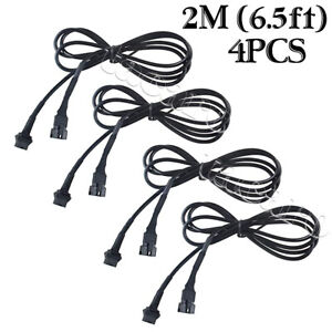 4x 4pin Extension Wire Cable Connector For Rgb Led Strip Rock Lights Glow Lamp