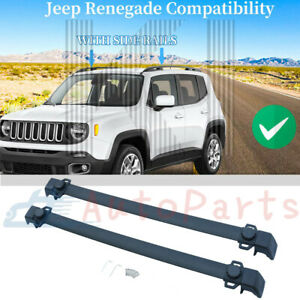 Top Cross Bar Cargo Carrier Roof Rack For 2015 2019 Jeep Renegade Aero Style