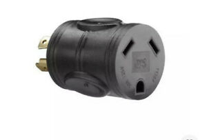 Powerfit Pf922011 120 To 240 volt 4 prong 20 amp Rv Male Plug Adapter Twist For