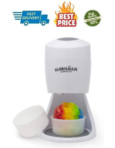 55w Ice Shaver Machine Snow Cone Maker Shaved Ice 3 Lbs Electric Crusher White