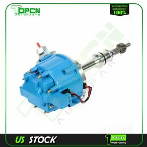 Hei Ignition Distributor With Blue Cap Fits Sbf Ford Small Block 260 289 302