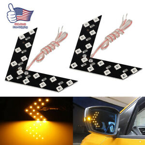 2 X Car Side View Mirror Turn Signal 14 smd Yellow Led Arrow Lights Blinker Lamp