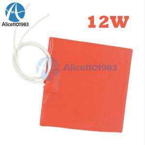 12v 12w Silicone Heating Panel Constant Temperature Heater Plate 100 X 120 Mm