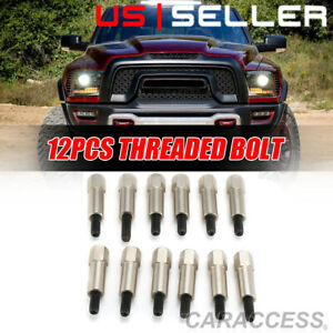 Chrome Valve Cover Bolt Set Fits Small Block Ford 289 302 351w Sbf 12pc Set