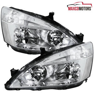 For 2003 2007 Honda Accord 2 4dr Headlights Driving Signal Lamps Pair Left right