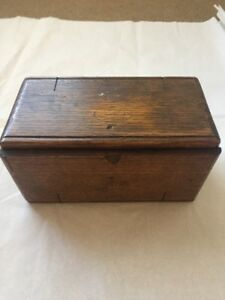 1889 Antique Wood Box Singer Puzzle Patented Roll Up Box Sewing Machine