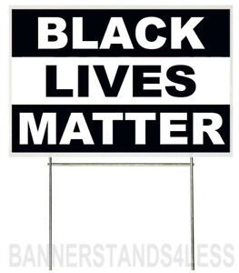 18x12 Inch Black Lives Matter Yard Sign With Stake Kb1s
