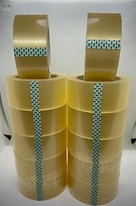12 Roll Clear Carton Sealing Packing Tape 2 In X 110 Y Extra Long Heavy Duty