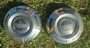 Pair Vintage 12 Hub Caps 1967 1972 Ford Truck Dog Dish Hubcaps Oem Used