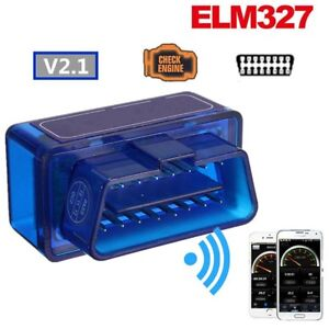 Super Mini Bluetooth Obd2 Android Torque Obdii Elm327 V2 1 Adapter Auto Scanner