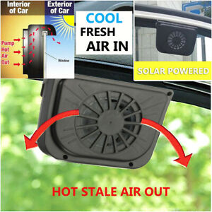 Solar Powered Car Air Vent Cooling Exhaust Fan Auto Cooler Ventilation System Us