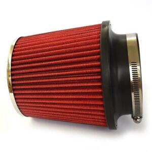 Red 3 5 Inch Race Performance Inlet Cone Air Filter Intake Universal