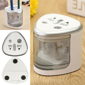 Electric Automatic Pencil Sharpener Dual Holes Battery Operated Sharpener us