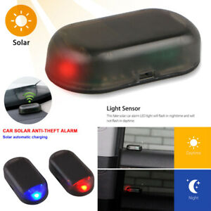 us Solar Alarm Led Light Security System Warning Anti Theft Flash Blinking Led
