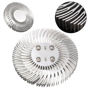 Round Spiral Aluminum Heat Sink Radiator 90 10mm For 10w High Power Led Lamp us