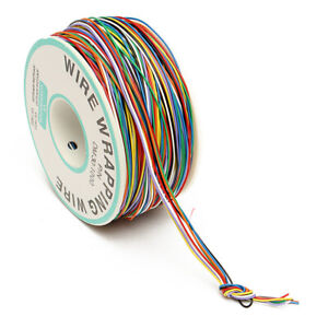 us 30awg 0 25mm Tin Plated Copper Wire Wrapping Insulation Test Cable 8 color