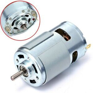 Large 775 12v 36v Torque Low Noise High Speed Motor Gear Bearing 3500 9000rpm us